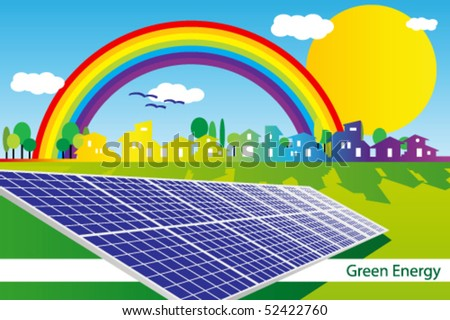 Brochure cover or Business card - Green Business - stock vector