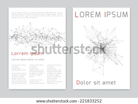 brochure cover science design template vector illustration - stock vector