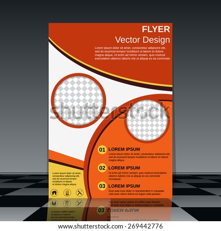 Brochure cover template. Business flyer, poster, booklet abstract design. - stock vector