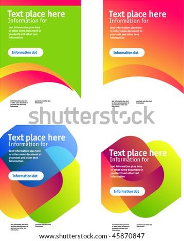 3d brochure template - 3d elements set stock vector 26811310 shutterstock