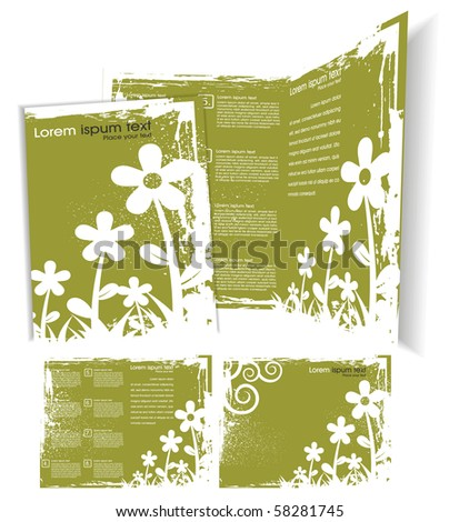 Brochure cover template. Vector Illustration - stock vector