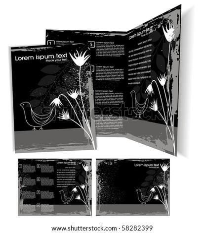Brochure cover template. Vector Illustration - stock vector