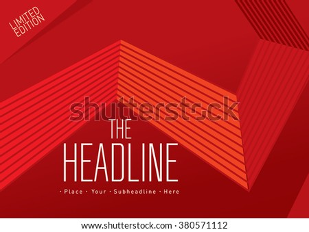 Brochure cover with background design/ Vector poster design/ Abstract background pattern/ Graphic design/ Book cover template/ Magazine layout with line art - stock vector
