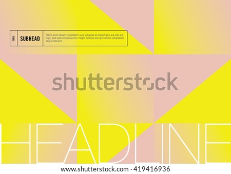Brochure cover with background design/ Vector poster design/ Abstract background pattern/ Graphic design/ Book cover template/ Abstract modern geometric background/ Annual Report Cover  - stock vector