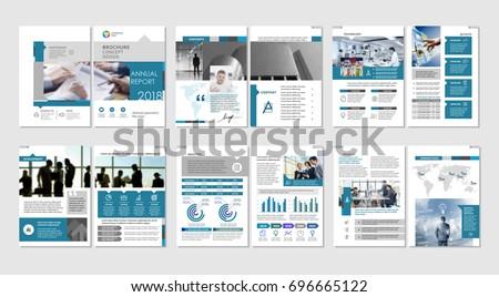 Brochure Creative Design Multipurpose Template Cover Stock Vector - Multi page brochure template