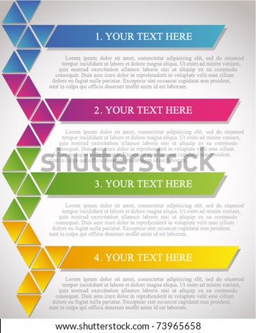 Brochure design - stock vector