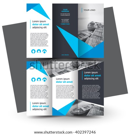Brochure design, brochure template, creative tri-fold, trend brochure - stock vector