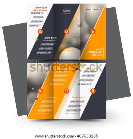 Brochure Design Brochure Template Creative Trifold Stock Vector Hd