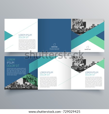 Brochure design brochure template creative trifold stock for One sided brochure template