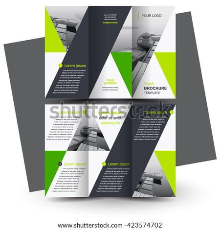 Brochure design brochure template creative trifold stock for Tri fold business brochure template