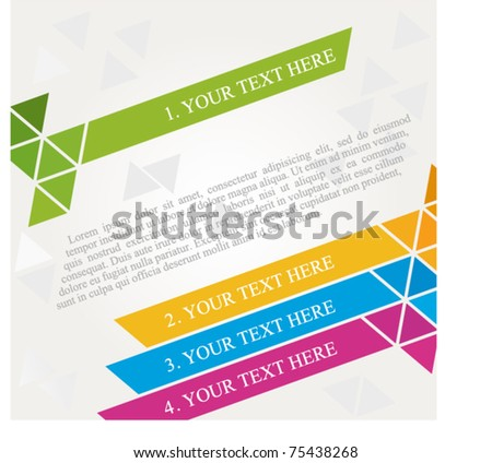brochure design diagonal - stock vector