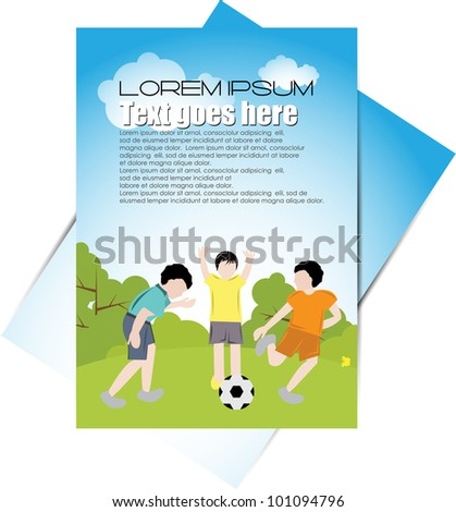 brochure design for kids and teens - stock vector