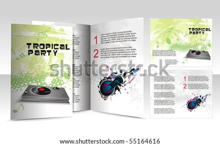 brochure design for music concept, vector illustartion. - stock vector