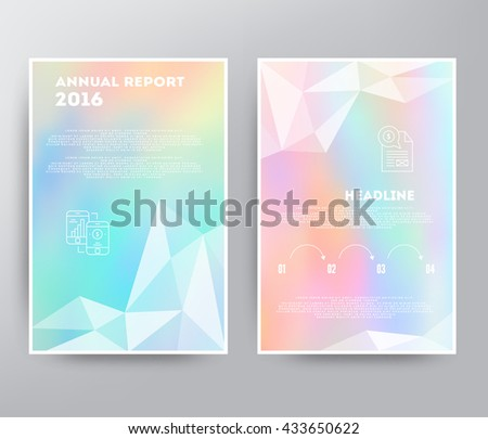 Brochure design illustration - stock vector