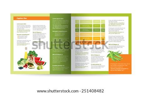 Brochure design. Magazine layout for infographics.  - stock vector