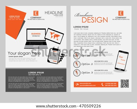 Brochure Design Template. Abstract Modern Backgrounds, computer flyer. Vector EPS 10
