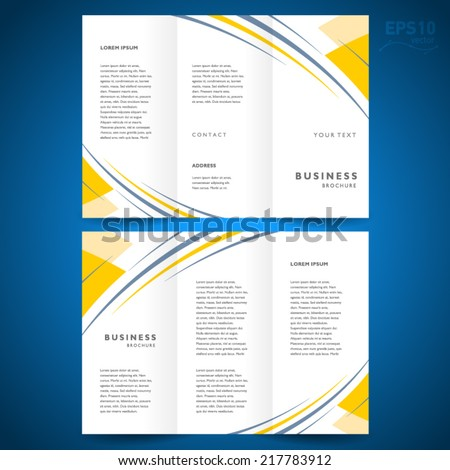 brochure design template abstract stripes - stock vector