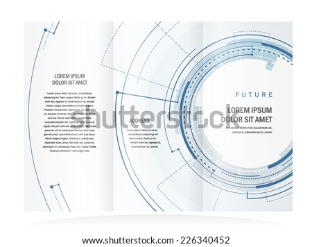 brochure design template future circles technological - stock vector