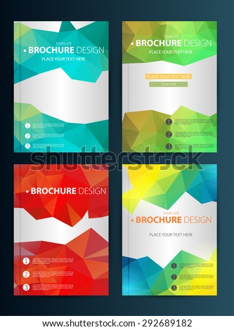Brochure Design Template. Geometric shapes, Abstract Modern Backgrounds, Infographic Concept.Flat design. Vector