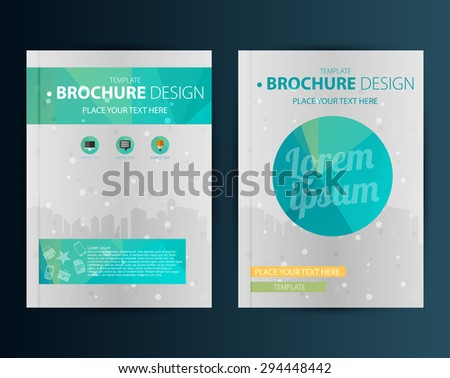 brochure design template geometric shapes abstract stock vector