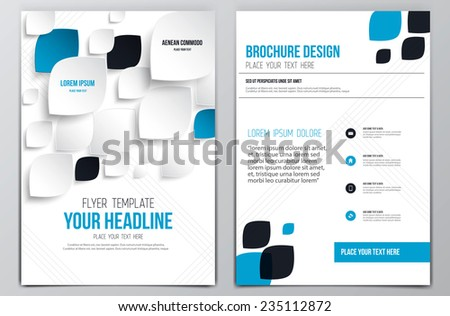 Brochure Design Template. Geometric shapes, Abstract Modern Backgrounds, Infographic Concept. Vector - stock vector