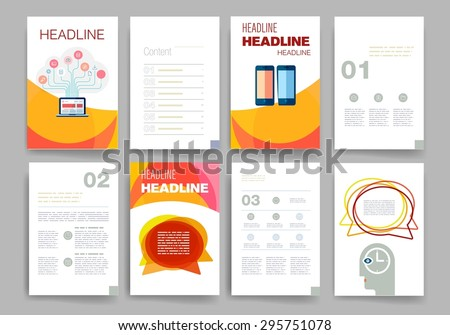 Brochure Design Template Set Templates Design Stock Vector 295751078