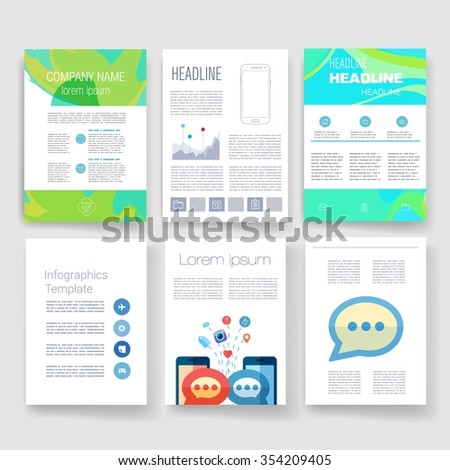 Brochure Design Template Set Templates Design Stock Vector Hd