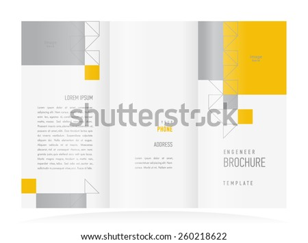 brochure design template triangles geometric abstract - stock vector
