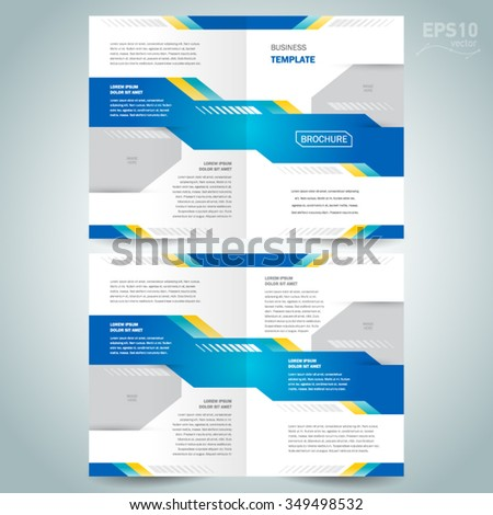 brochure design template vector booklet geometric abstract tech - stock vector
