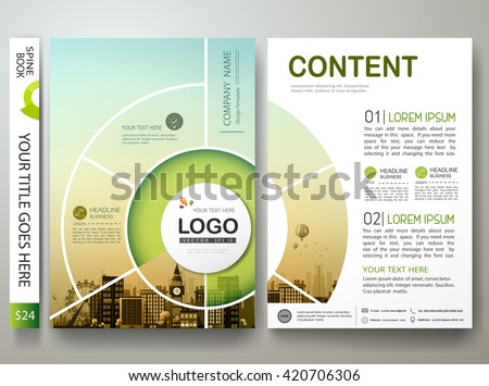 Brochure design template vector.Flyers report business infographic magazine poster.Abstract circle layout template and city.Cover book presentation portfolio.Cover brochure design a4 layout background