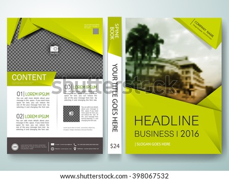 Vector brochure,magazine,flyers,cover,annual report,design templates,green environment background in a4 size,To adapt for business poster,photo book,portfolio,ecology presentation,website,illustration - stock vector