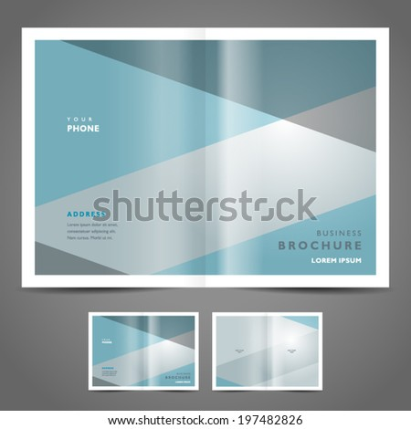 brochure design template vector simple geometric abstract background - stock vector