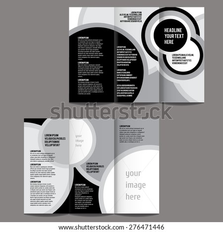 black and white brochure