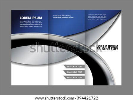 brochure design template vector trifold geometric abstract  - stock vector