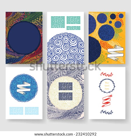 Brochure design template with abstract elements. - stock vector