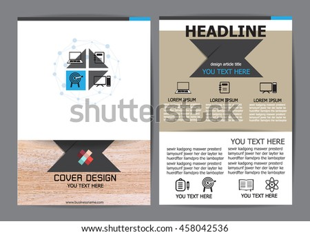 Brochure Design Templates. flyer layout, A4 size - stock vector