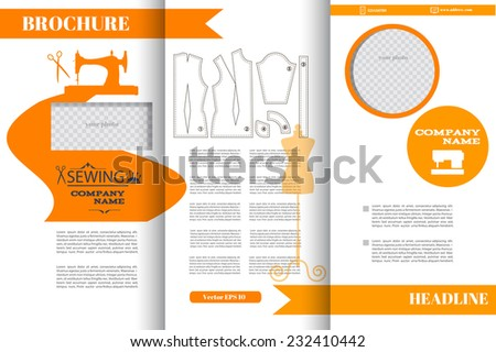 fashion brochure template - fashion brochure stock images royalty free images