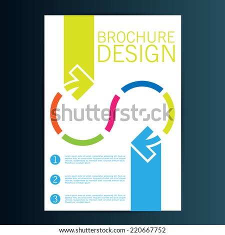 Brochure design. Vector arrows - stock vector