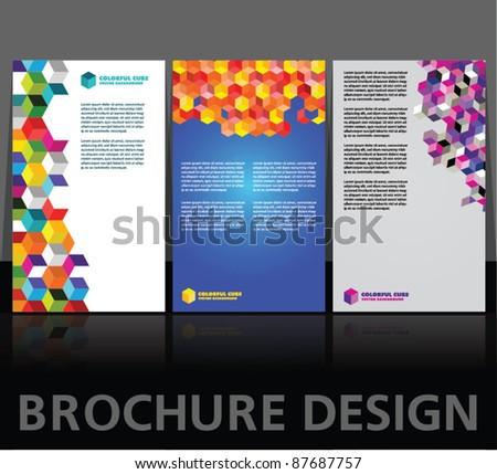 Brochure design vector layouts - stock vector