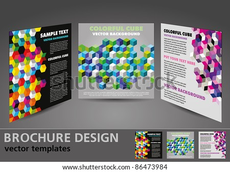 Brochure design vector templates - stock vector