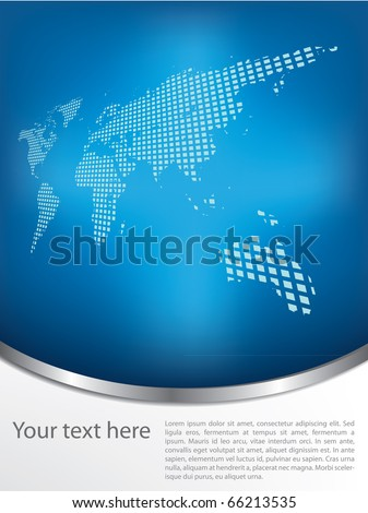 Brochure design with earth map - stock vector