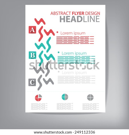 Brochure, flyer, cover vector design template with abstract elements. - stock vector