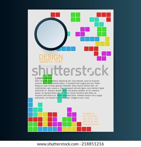 Brochure Flyer design vector template with blocks. Eps 10 - stock vector