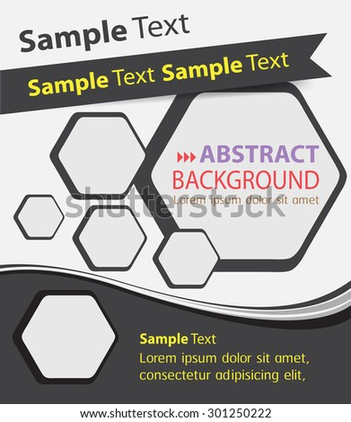 brochure, flyer, magazine cover. black white template. Card Business Set. Folder Design Template. banner. label. Leaflet Abstract Technology background for computer graphic website internet. text box. - stock vector