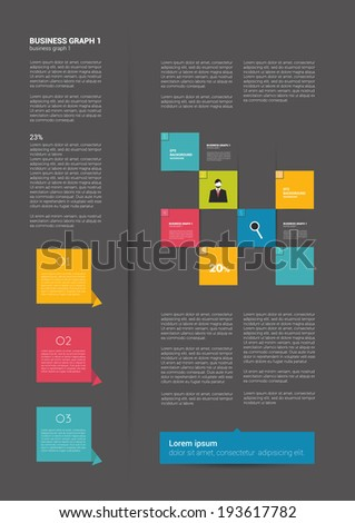 Brochure, flyer, newsletter, annual report layout template. Business flat background concept.