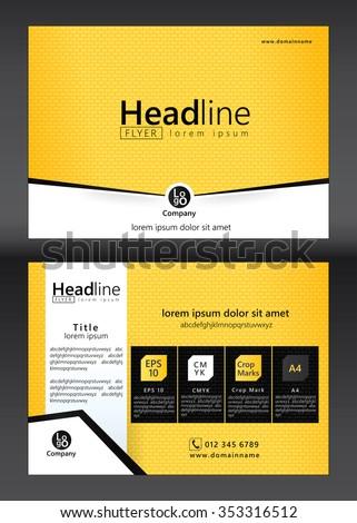 Brochure Flyer template design. Geometric pattern. Vector illustration of geometry graphic design. - stock vector