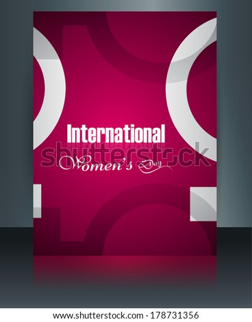 Brochure for Women's day template colorful background vector - stock vector
