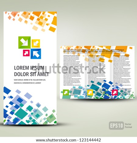 Brochure geometric element colorful / cmyk no effect - stock vector