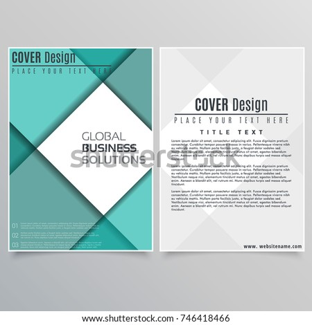 Brochure Layout design template illustration vector