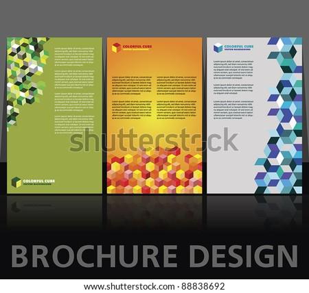 Brochure layout design vector templates - stock vector
